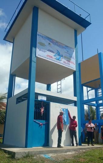 Juin 2018 : Inauguration du projet d'eau potable de l'hôpital de Santa Clotilde