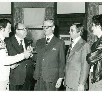 Jean Valiquette (pilote), Noël Girard (directeur), Jules Léger (gouverneur général), Jean Moreau et Jean-François Taschereau (pilote)