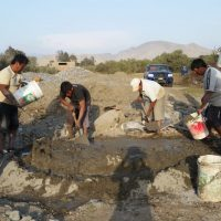 Construction du boîtier des raccords en ciment