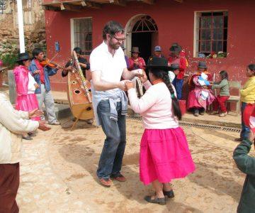 Premier cours de Huayno pour Martin