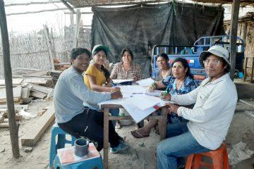 Réunion du comité d'eau potable avec Veronica Flores