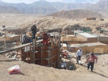 Construction du réservoir