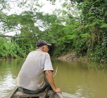William navigue sur les rivières d'Amazonie