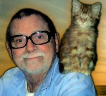 Claude Gagnon et son chat Monsieur